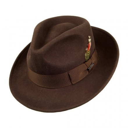 Hatut - Crushable C-Crown Fedora (brun)