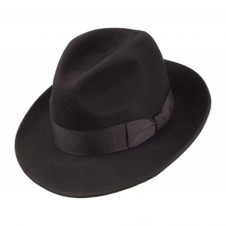 Hatut - Crushable Pinch Crown Fedora (musta)