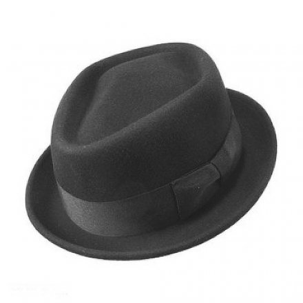 Hatut - Diamond Crown Pork Pie Hat (musta)