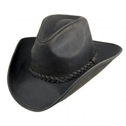 Hatut - Jaxon Hats Buffalo Leather Cowboy (musta)