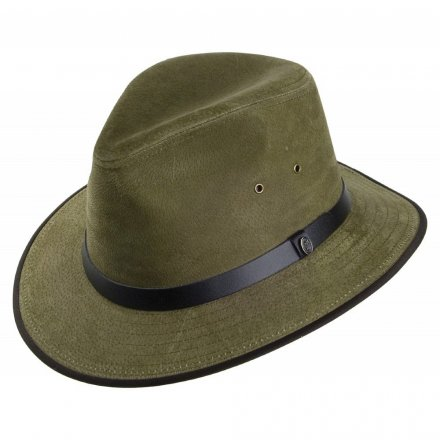 Hatut - Nubuck Leather Safari Fedora (oliivi)