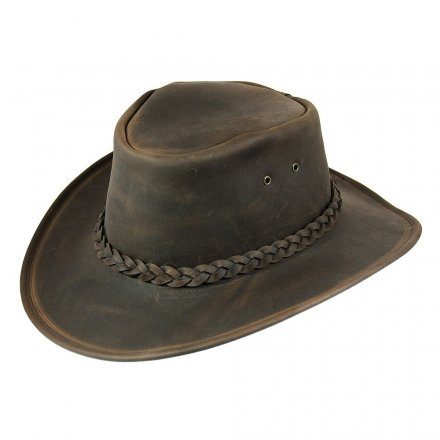Hatut - Jaxon Hats Crushable Leather Outback (ruskea)