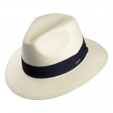 Hatut - Toyo Safari Fedora With Black Band (valkoinen)