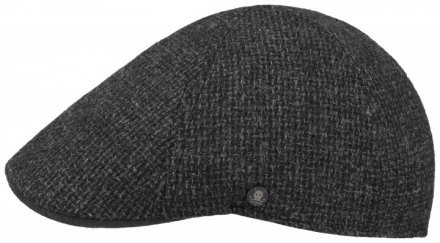Flat cap - Stetson Texas Wool Rough (antrasiitti)