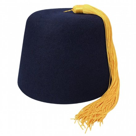Fez - Navy fez with gold tassel