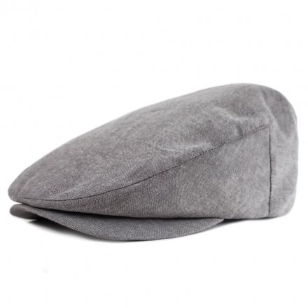 Flat cap - Brixton Barrel (grey chambray)