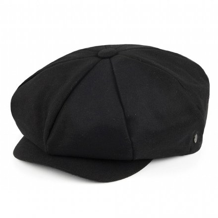 Flat cap - Jaxon Big Apple Cap (musta)