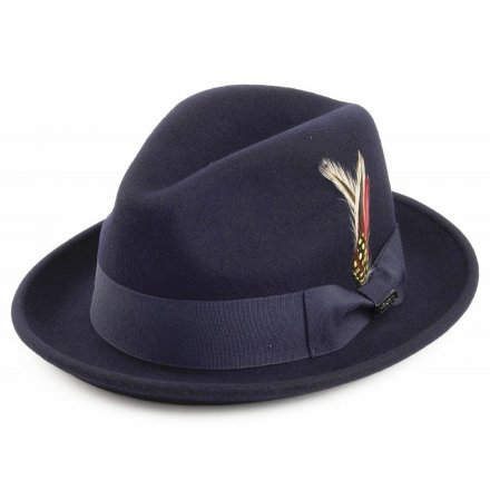 Hatut - Crushable Blues Trilby (laivastonsininen)