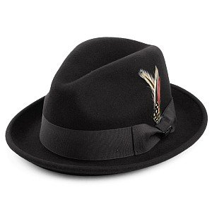 Hatut - Crushable Blues Trilby (musta)
