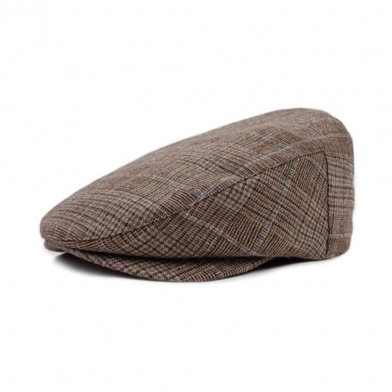Flat cap - Brixton Barrel (brown plaid)