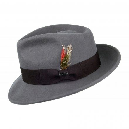 Hatut - Crushable C-Crown Fedora (harmaa)