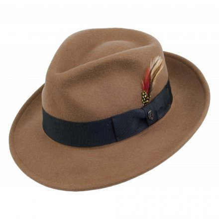 Hatut - Crushable C-Crown Fedora (vaaleanruskea)