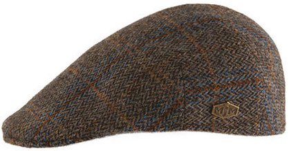Flat cap - MJM Country Harris Tweed (ruskea)