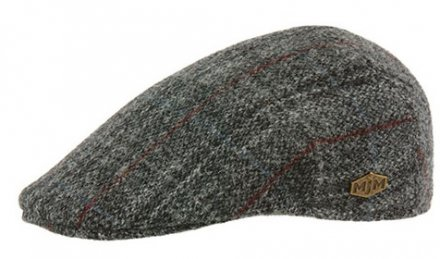 Flat cap - MJM Country Harris Tweed Check (harmaa)