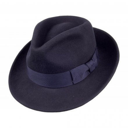 Hatut - Crushable C-Crown Fedora (laivastonsininen)
