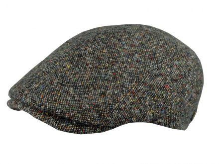 Flat cap - MJM Daffy Wool/Silk (harmaa mix)