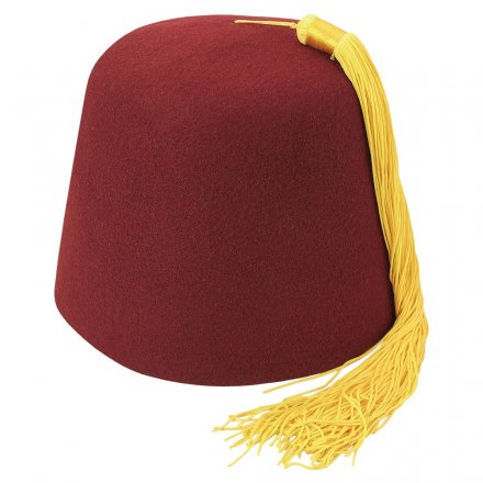 Fez - Maroon fez with gold tassel