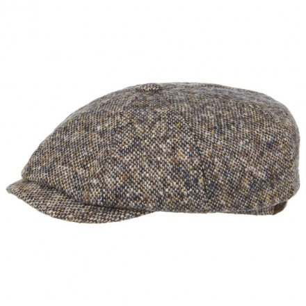 Flat cap - Stetson Hatteras Donegal Tweed (sininen mix)