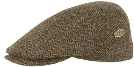 Flat cap - MJM Hunter Harris Tweed (vihreä)