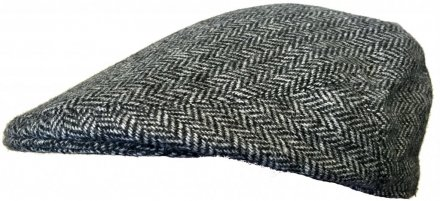 Flat cap - Lawrence and Foster Garforth (harmaa herringbone)