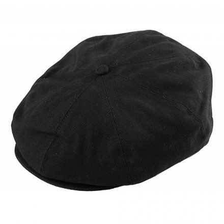 Flat cap - Jaxon Hats Cotton Newsboy Cap (musta)