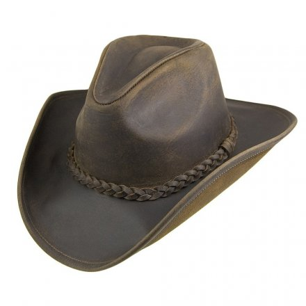 Hatut - Jaxon Hats Buffalo Leather Cowboy (ruskea)