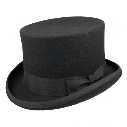 Hatut - Mid-Crown Top Hat (silinteri) (musta)
