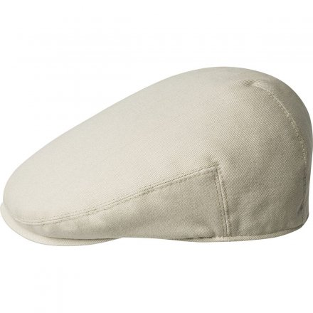 Flat cap - Kangol Cotton Washed Cap (beige)