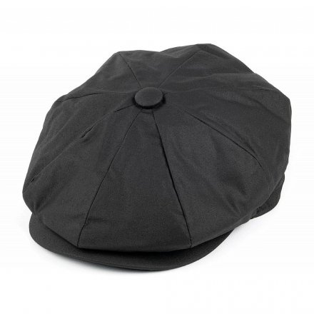Flat cap - Jaxon Hats Oil Cloth Newsboy Cap (musta)