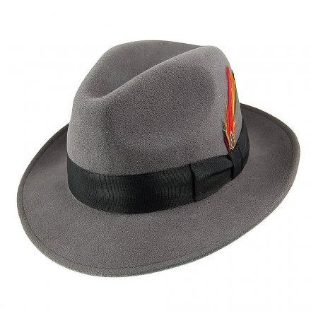 Hatut - Crushable Pinch Crown Fedora (harmaa)