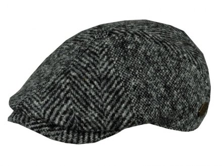 Flat cap - MJM Rebel Wool Patch (harmaa)