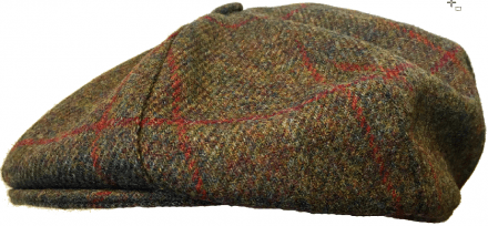 Flat cap - Lawrence and Foster York (tummaanvihreä tweed)