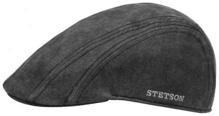 Flat cap - Stetson Madison Old Cap Winter (musta/harmaa)