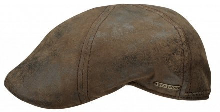 Flat cap - Stetson Texas Leather (ruskea)