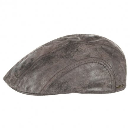 Flat cap - Stetson Madison Leather Flat Cap (ruskea)