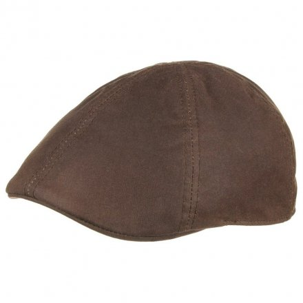 Flat cap - Stetson Texas Waxed Cotton (ruskea)