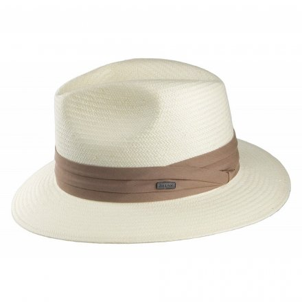 Hatut - Toyo Safari Fedora With Khaki Band (valkoinen)