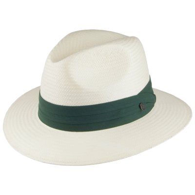 Hatut - Jaxon Toyo Safari Fedora With Olive Band (valkoinen)