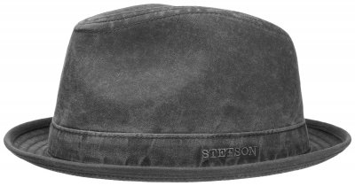 Hatut - Stetson Player Organic Cotton (musta-harmaa)
