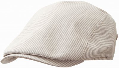 Flat cap - MJM Bang Cotton Mix (harmaa stripe)