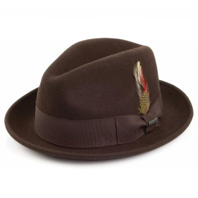 Hatut - Crushable Blues Trilby (ruskea)