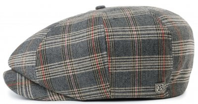 Flat cap - Brixton Brood (grey/tan plaid)