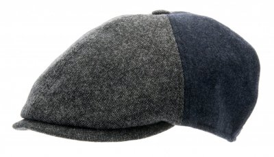 Flat cap - CTH Ericson Colin Patchwork (harmaa)