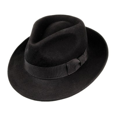 Hatut - Crushable C-Crown Fedora (musta)