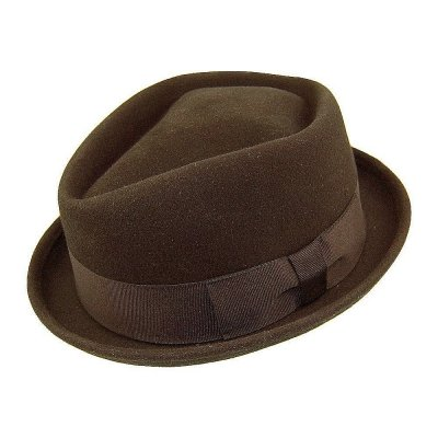 Hatut - Diamond Crown Pork Pie Hat (ruskea)