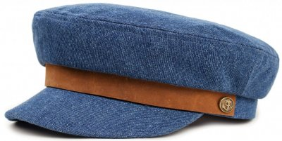 Flat cap - Brixton Fiddler (light denim)