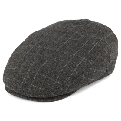 Flat cap - Brixton Hooligan (harmaa plaid)