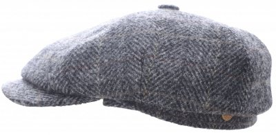 Flat cap - Mayser Seven Plus Harris Tweed (harmaa)