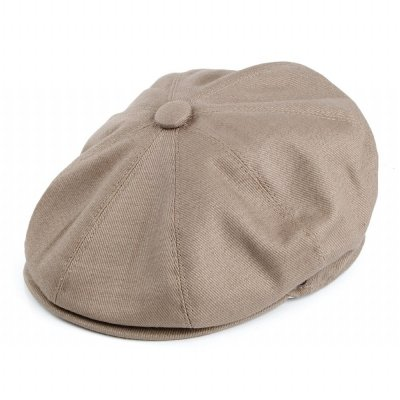 Flat cap - Jaxon Hats Cotton Newsboy Cap (beige)