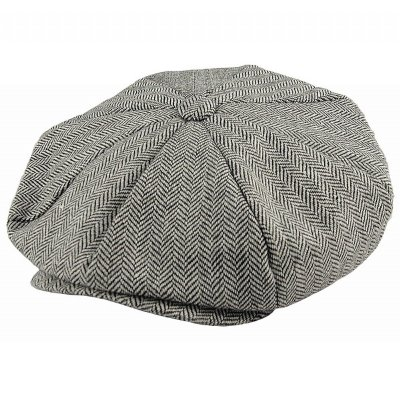 Lippalakit - Jaxon Hats Herringbone Big Apple Cap (Harmaa)